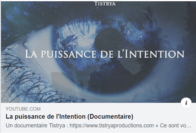 la puissance de l'intention