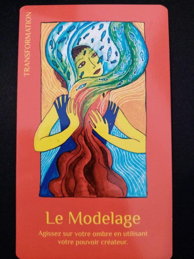 """Le Modelage jeu de carte """"les cartes de lumière"""" de Lise Bartoli"""
