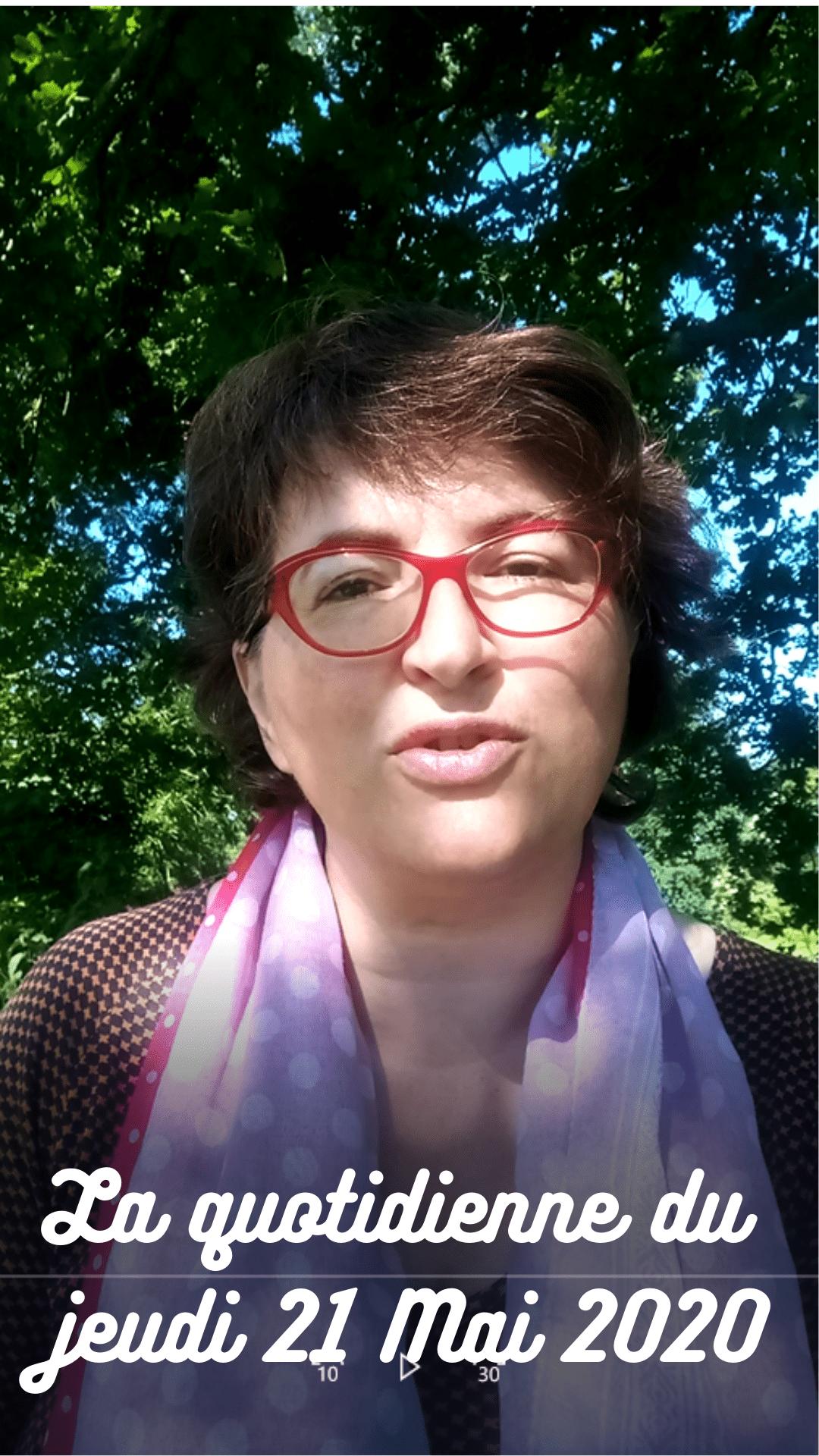 Vidéo La Quotidienne de nadiapaillard.com : Lecture du jour Jeudi 21 Mai 2020, fête à souhaiter, lecture de 2 extraits de livre